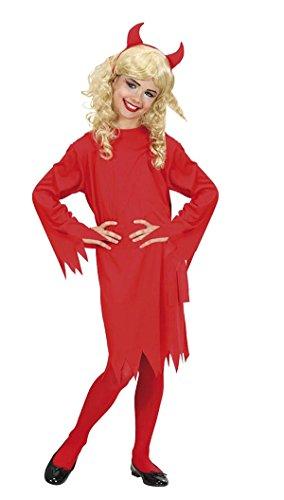COSPLAY PLUS Disfraz de Diablo Rojo Demonia para Niñas Carnaval Halloween Cosplay (8-10 Años)