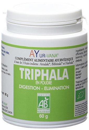 Ayur-Vana Triphala en Poudre Bio Pilulier de 60 g