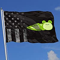 OLYIE Outdoor Flags Worn-Out Happy Tadpole 3X5 Ft Flag for Outdoor Indoor Home Decor Sports Fan Football Basketball Baseball Hockey