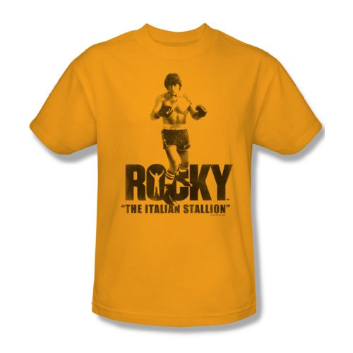 Rocky - Der italienische Hengst Adult T-Shirt In Gold, XXX-Large, Gold