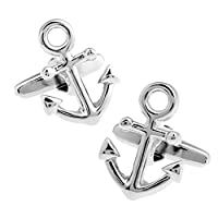 Pictographic Series Anchor Shape Cufflinks Fasihon Simple Mens Shirt Cufflinks