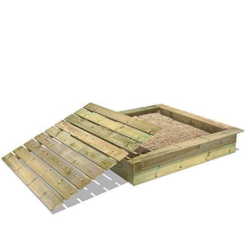 Sandkasten Holz Sandkiste WICKEY KingKong 165x165 cm mit Deckel