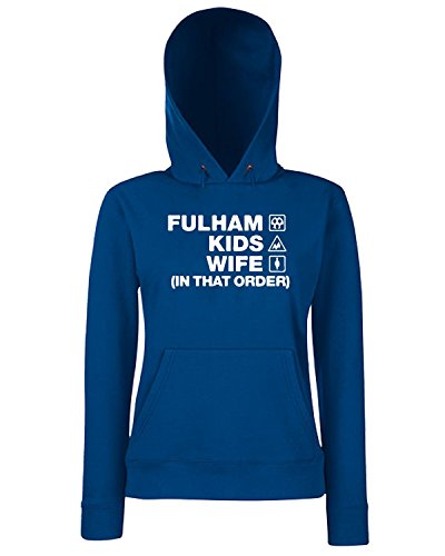 T-Shirtshock - Sweats a capuche Femme WC1085 fulham-kids-wife-order-tshirt design Bleu Navy