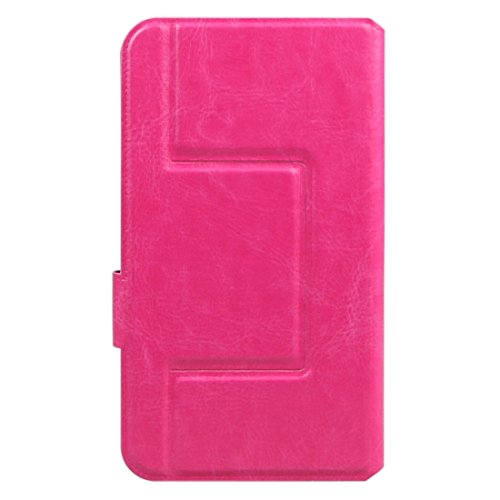 DaYiYang Case Cover ENKAY Solid Color Horizontale Flip Leder Tasche mit Call Display ID & Halter für iPhone 6 & 6s / Samsung Galaxy A3 & A5 / Huawei Ascend Y530 / LG L Bello ( Color : Blue ) Magenta