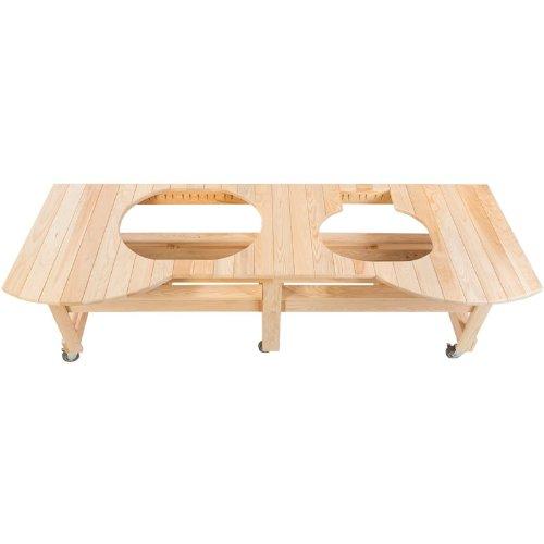 Primo Kombi-Tisch aus Zypressenholz für OVAL 400 XL & 200 Junior - Oval Junior Grill