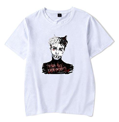 55df05ce6f0869 SIMYJOY Unisexe RIP Xxxtentacion T-Shirt Cool Rapper Shirt Streetwear Top  pour Hommes Femmes Adolescents