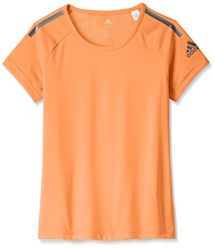 adidas Mädchen Climacool Training T-Shirt, Easy Orange/Iron Metallic, 164