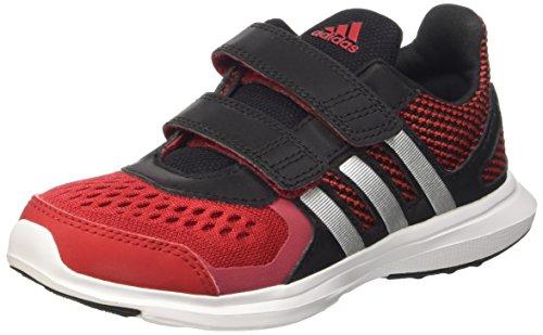 adidas Hyperfast 2.0 Cf K, Mocassins Garçon, Shock Red / Purple Glow / Ftwr White, 28 EU Multicolore (Powred/Msilve/Cblack)