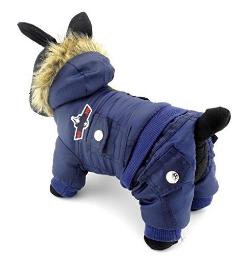 zunea Airman Kleiner Hund Winter Overall mit Kapuze Fleece Wasserdicht Warm Pet Puppy Coat Jacke Schneeanzug (dieser Style Run klein, wählen Bitte eine Größe größer) (Camo Fashion Tee)