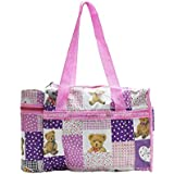 C2C Large Multipurpose Waterproof Baby Diaper Bag For Mothers With Bottle Warmer And Baby Travel Bag In Pink-708