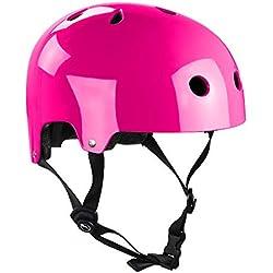 SFR Skates Essentials Casco, Unisex Adulto, Rosa (Fluo Pink), 53-56 cm