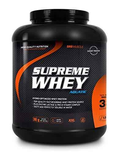 SRS Muscle - Supreme Whey XXL, 1.900 g, Vanille   Hydro-optimized Whey Protein   mit Enzym Laktase und Pro-B Vitaminen   aspartamfrei   deutsche Premiumqualität
