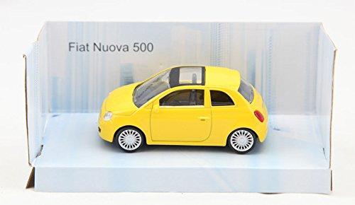 Fiat Nuova 500 Modellauto gelb 1:43 Auto Fahrzeug Modell