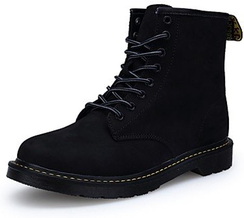 RTRY Zapatos De Mujer Cuero De Nubuck Pu Otoño Invierno Confort Botas De Montar Botas De Moda Botas Botas De Combate...