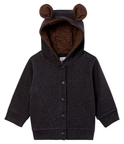 Petit Bateau Baby-Jungen Sweat Shirt A Capuche_5015701 Kapuzenpullover, Grau (City Chine 01), 86 (Herstellergröße: 18M/81cm)