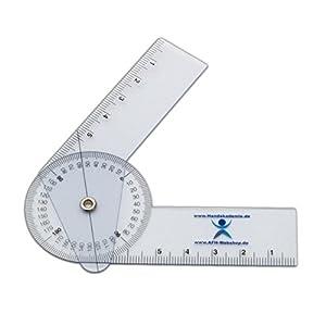 Winkelmesser | Gelenkmesser | Goniometer aus Kunststoff, Länge: 10 cm