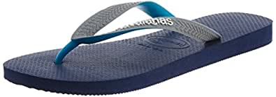 Havaianas Top Mix Navy/Grey/Green, Unisex Adults' Fashion Sandals, Grey (Navy/Grey/Green 0747), 11-12 UK