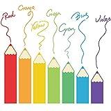 Jcnfa-pegatina de pared Pincel De Color Zócalo Cuarto De Los Niños Pasillo del Aula Decoración (Color : A, Tamaño : 90 * 100cm)