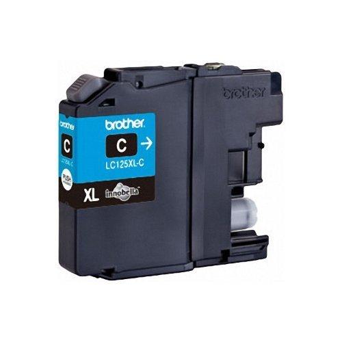 Preisvergleich Produktbild 1x Original XL Brother Tintenpatrone LC 125 LC125 LC-125 Cyan für MFC J 4710 DW