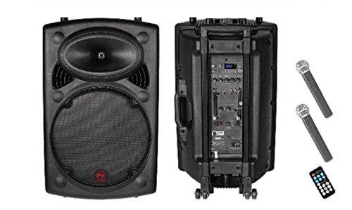 Aerons Sk 10A Port Stranger Type Portable PA System Especially For Karaoke (Black)