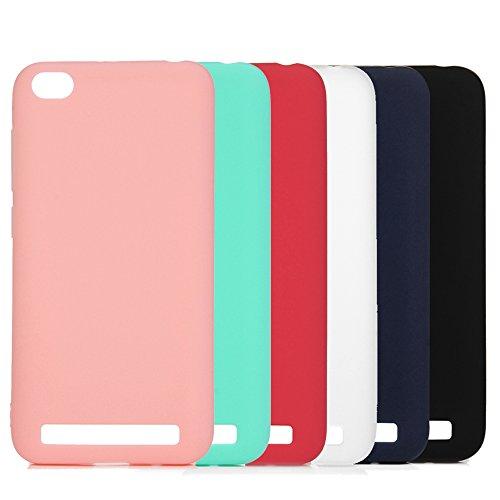 6x Funda Xiaomi Redmi 5A, Carcasa Silicona Suave Cubierta Gel Case Ultra Delgado TPU Goma Flexible Cover para Xiaomi Redmi 5A - 6 Colores