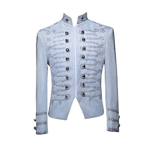 Dhyuen Vintage Anzug Mantel Herren Europäischen Stil Gericht Kostüme Militäruniformen Leistungen Tops Bluse Party Smoking -