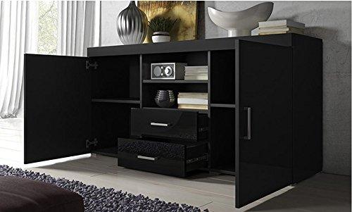 La Credenza Muebles : Muebles bonitos credenza modello roque colore nero casame
