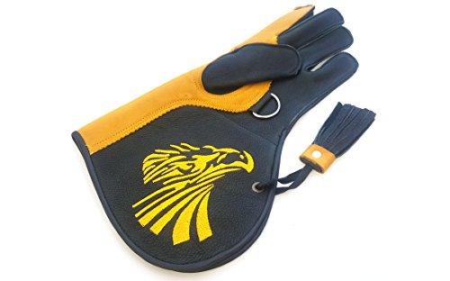 Para hombre calidad de doble capa suave piel de vaca auténtica guantes de cetrería/Bird Guantes de manejo/Pet Guantes.