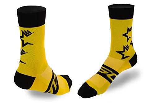 Calcetines ciclismo amarillo fluor