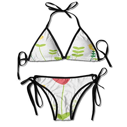 Women's Bathing Bikini Set,Shaped Petals Nature Inspirations Sexy Bikini 2 Piece -