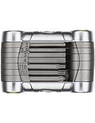 Crankbrothers Premium Pixl 7 clés BTR + 1 tournevis plat + 1 tournevis cruciforme +2 clés torx Argent