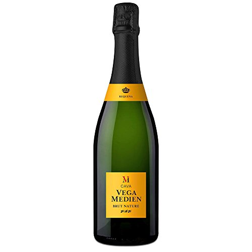Cava Vega Medien D.O. Cava Brut Nature | Edler Cava aus Spanien | Nach der traditionellen Methode hergestellt | Flaschengärung | 1 Flasche 750ml