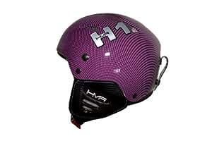 HMR H1 Ski Helmet Large Purple Kevlar Design
