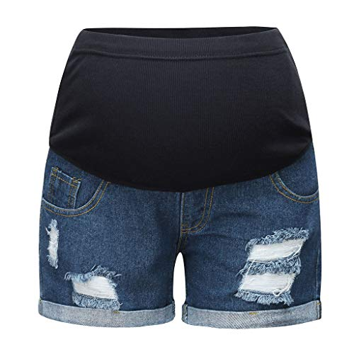 UFODB Umstandsjeans Kurz Damen Umstandsmode Capri Umstandshose Denim Caprihose Cargoshorts Kurze Hose Loch Umstands Umstandsshorts Shorty Jeans Shorts Jeanshose -