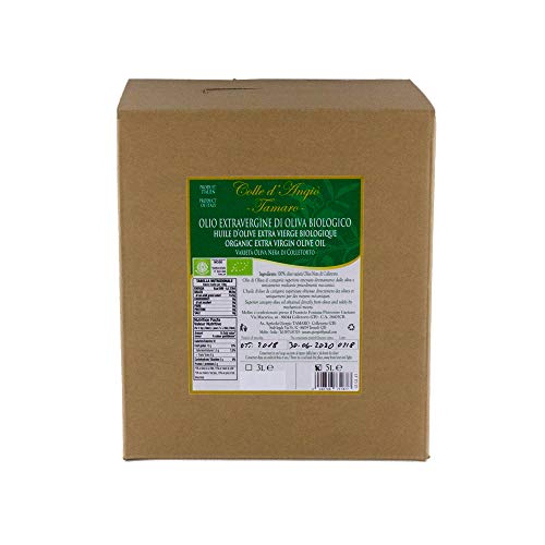 Olio extravergine di oliva nera biologico italiano molise 5000 ml - bag in box gtam009
