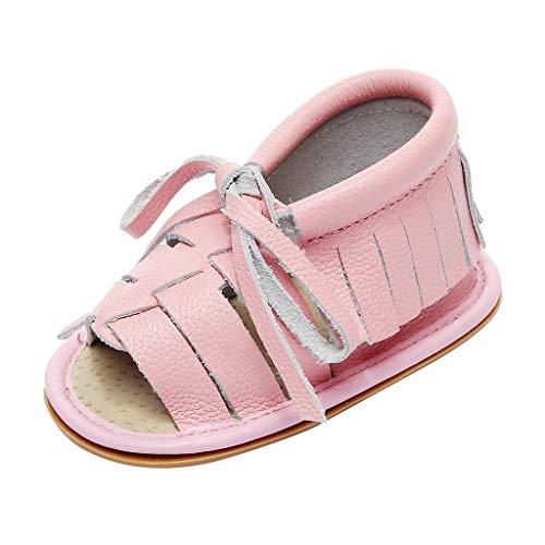Mode mit Fransen Leder Spitze Kleinkind Schuhe rutschfeste Sandalen Babyschuhe, Sandalen beleuchtet weichen Sohlen Prinzessin ()