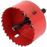 Wuudi- Broca para Sierra Perforadora de Acero Inoxidable de 75 mm M42 BI, Herramienta de Cortador de Metal para tubería de aleación de Madera