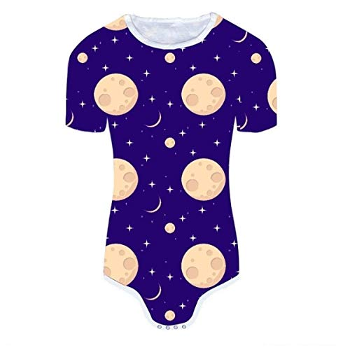 ug für Erwachsene, mit Schnappverschluss, Mond-Design, Violett - Violett - Small ()
