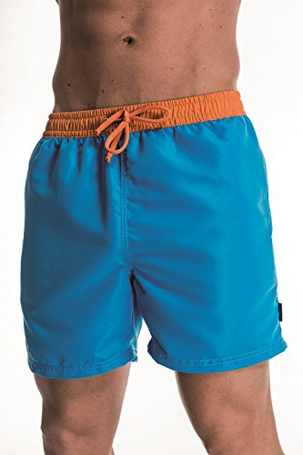 ZAGANO Herren Badeshorts - Bermudashorts 5014 azure/orange