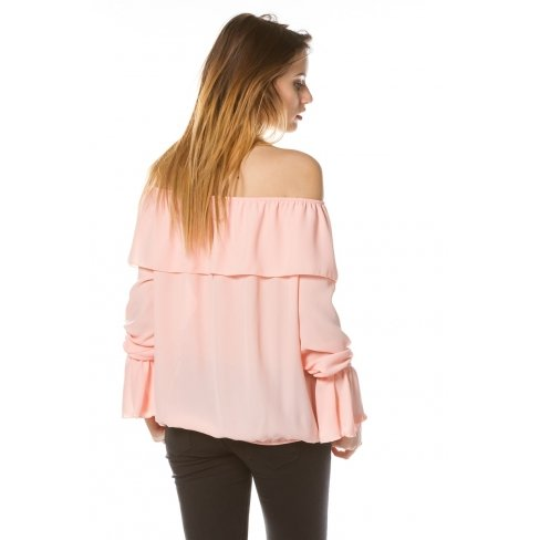 Princesse boutique - Chemisier ROSE épaules dénudées Rose
