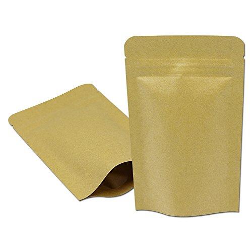 50 Stück Ziplock Mylar Kraftpapier Aufstehen Tüten Verpackungsbeutel Aluminiumfolie...