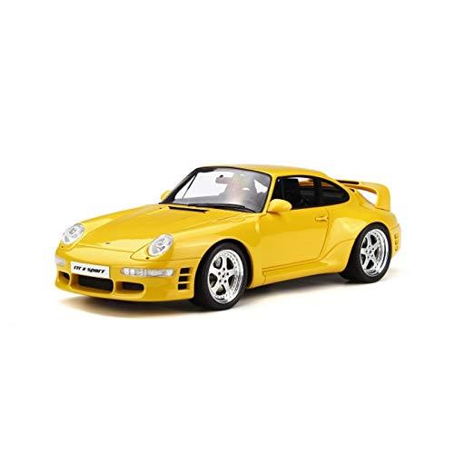 GAOQUN-TOY 1:18 Porsche 993 RUF CTR 2 Sport Gelb Limitiertes Resin Automodell (Farbe : Gelb, größe : 27cm*11cm*9cm)