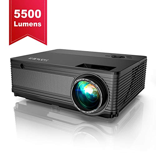 Videoproiettore, YABER 5500 Lumen Proiettore Nativa 1080P Supporto 4K 1920 x 1080 HD 300 'Display...