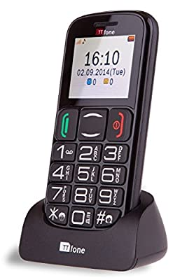 TTfone Mercury 2 Big Button Basic Senior Mobile Phone with Dock - Pay As You Go
