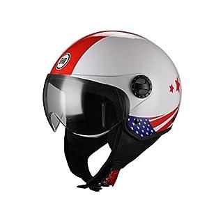 BHR DEMI-JET MOTORRADHELM MODELL ONE 801 FARBE USA FLAGGE GRÖßE XL
