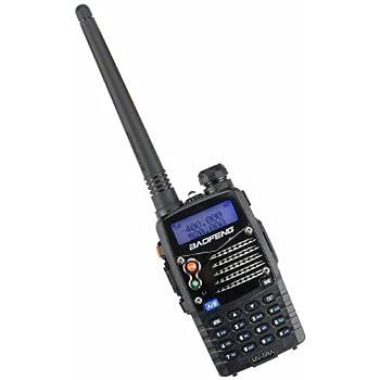 Baofeng UV-5RA Talkie-walkie radio portable/Walkie-talkie FM émetteur-récepteur double bande, double affichage, double veille et horloge intégrée