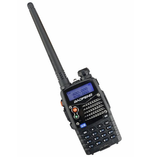 BAOFENG UV-5RA Hand Funkgerät Sprechfunkgerät Walkie Talkie FM Transceiver mit LCD Display (Dual Band, Dual Display, Dual Standby, wasserdicht, staubdicht und stoßfest) schwarz