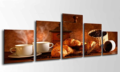 Cuadro Moderno fotografico Base Madera, 165 x 62 cm, Café, Bar, Café, Cafeteria Ref. 26203