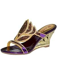 Meijili - Plataforma Mujer , color Dorado, talla 35