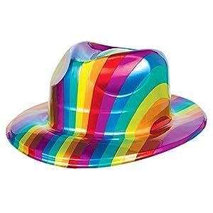 Amscan International Discotech Fever 70 - Accesorio para Sombrero de Fiesta, Color Verde Lima, plástico, 10 x 10 x 12 Pulgadas